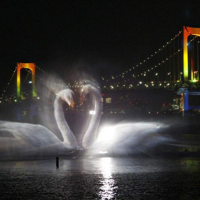 Odaiba Water Illumination
