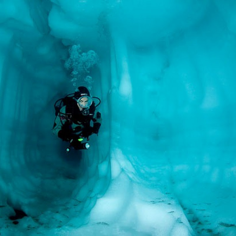 Underwater Ice Formations in Lake Sassolo