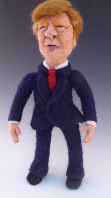Needle Felted Donald Trump