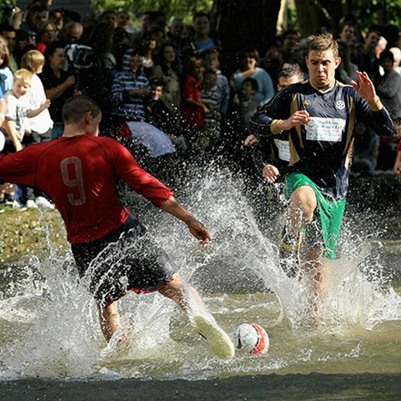 Burton-on-the-Water River Football Match