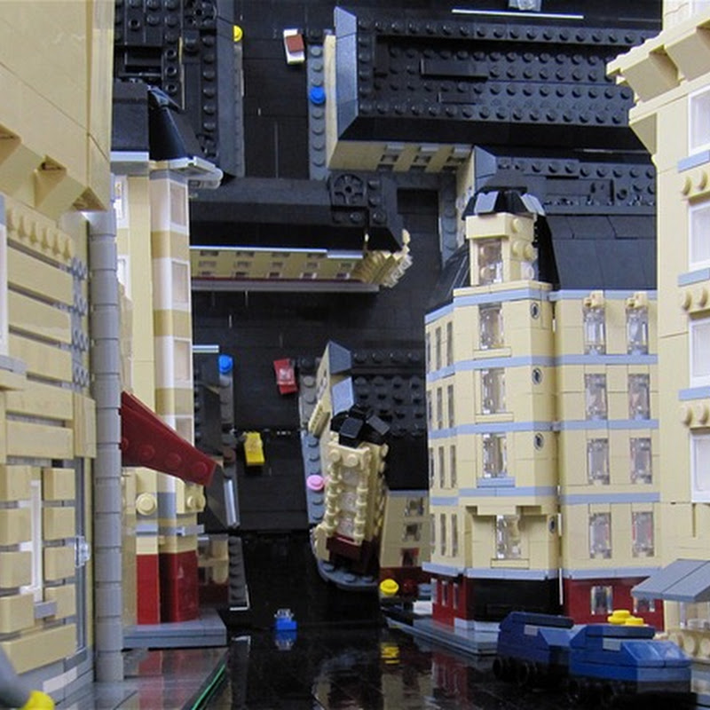 Inception's Inverted City in Lego