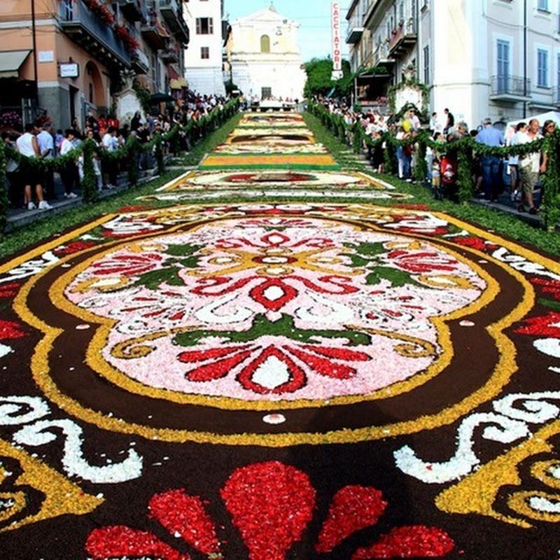 The Genzano Infiorata Flower Festival