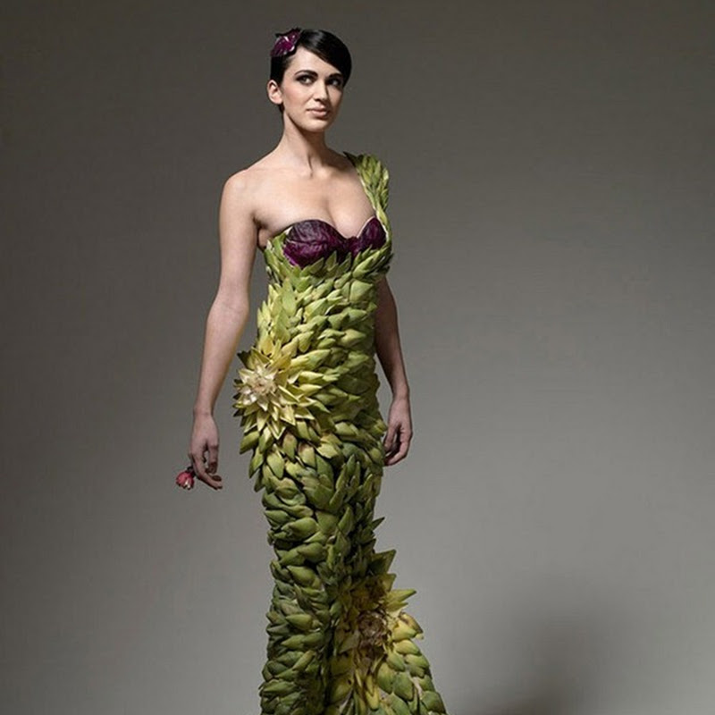 Dresses Made Out of Real Food