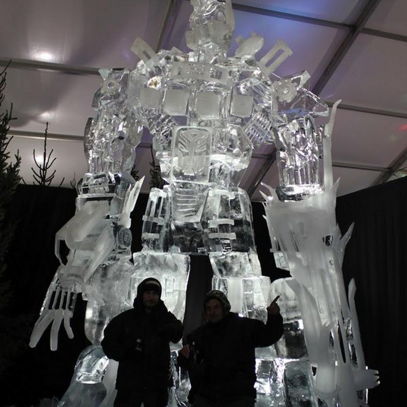 Optimus Prime Ice Sculpture