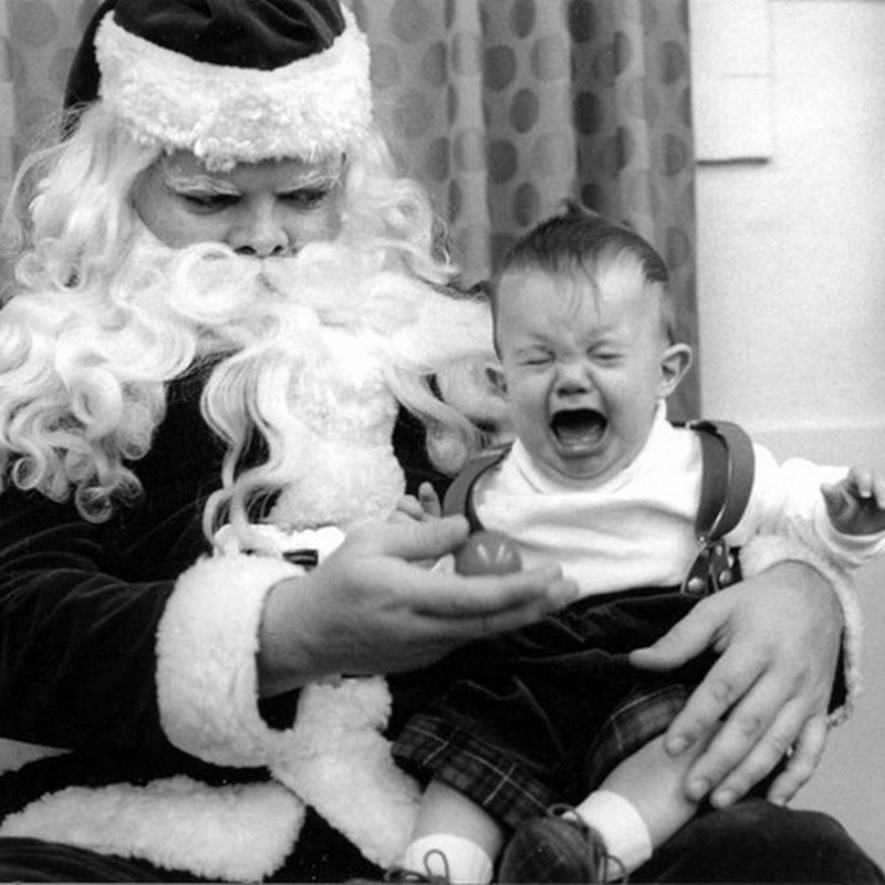 Pictures of Children Frightened By Santa Claus