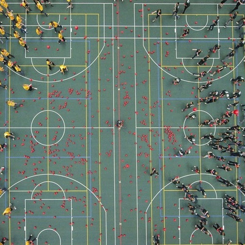 Largest Game of Dodge-ball Held in Edmonton, Canada