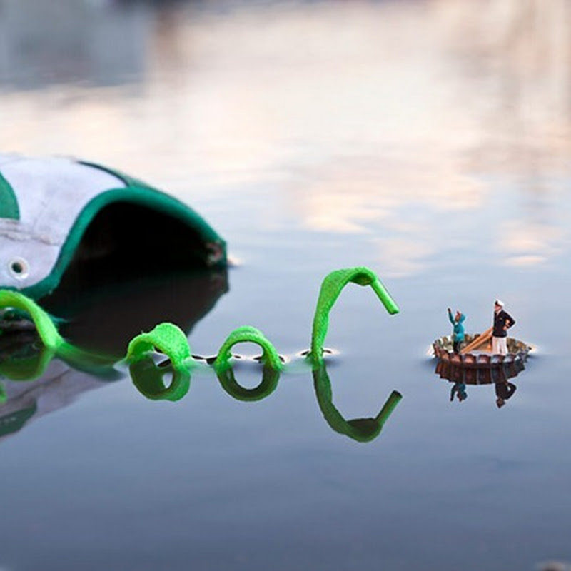 Miniature Street Art by Slinkachu