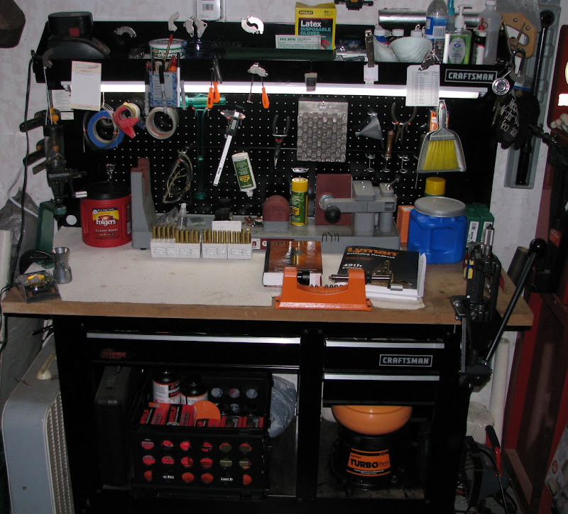My Humble Bench. Itu0027s About The Only Thing In My Garage Thatu0027s Somewhat  Organized.