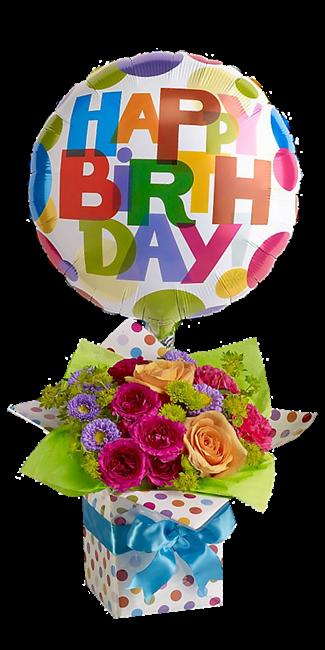 Balão escrito Happy Birthday presente Feliz aniver