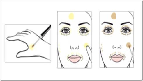 aplicação corretivo amarelo