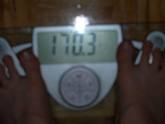 November 9th weigh in - 170.3lbs