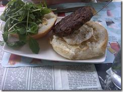 Burger Bar's Lyon - Goat Cheese, Arugula and Dijon