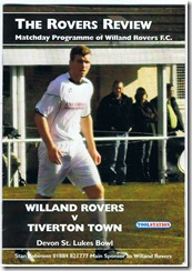 Willand vs Tivvy prog