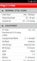 Screenshot of palmPEDi: Pediatric Tape