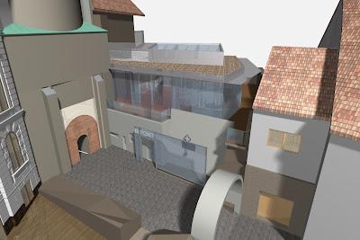 Előkapu - Múzeumi Információs és Fogadó Központ (Kulcspont) látványterve