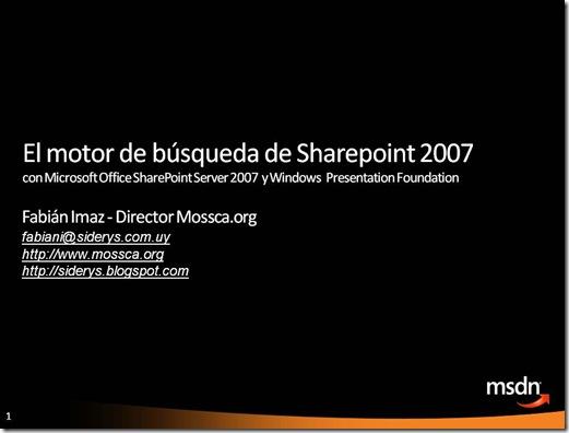 El motor de búsqueda de Sharepoint 2007