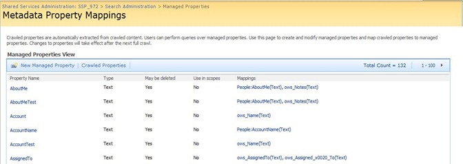 1 Metadata Property Mappings SharePoint Engine Search
