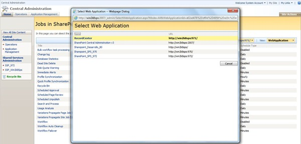 4 Jobs By Web Applications in SharePiont 2007