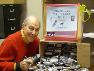 Collecting used cell phones for recycling