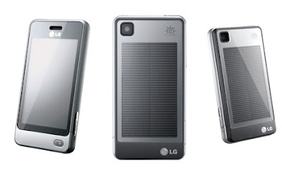 back in october lg introduced the gd510 or pop a green cell phone that comes with an optional battery cover that is also a solar cell allowing users to