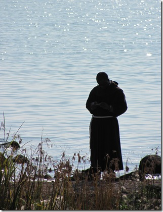 Monk at Seashore