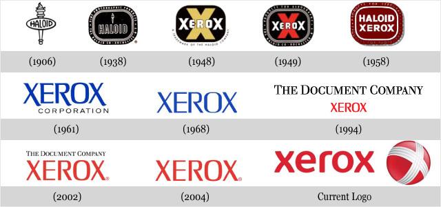Évolution des logos de grandes sociétés - Xerox