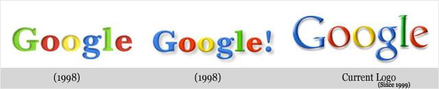Évolution des logos de grandes sociétés - Google