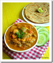 Prathy's veg kurma and parotta