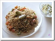 NS rice and raita