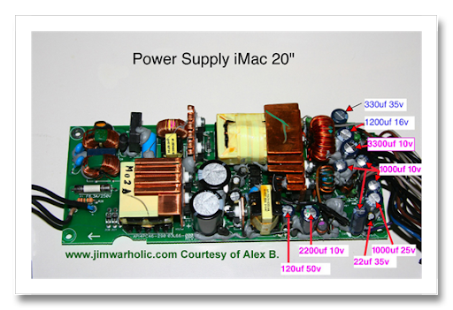 powersuppy imac 20in%5B1%5D?imgmax=800 apple imac g5 power supply issues and diy apple repairs  at panicattacktreatment.co