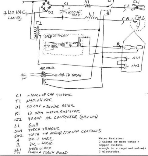 homemade plasma cutter schematic