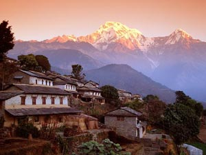 A marvelous scenery of one of the villages of Nepal