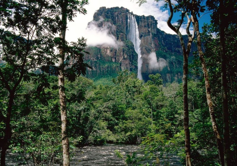 The highest waterfall in the world - Angel Falls in Venezuela