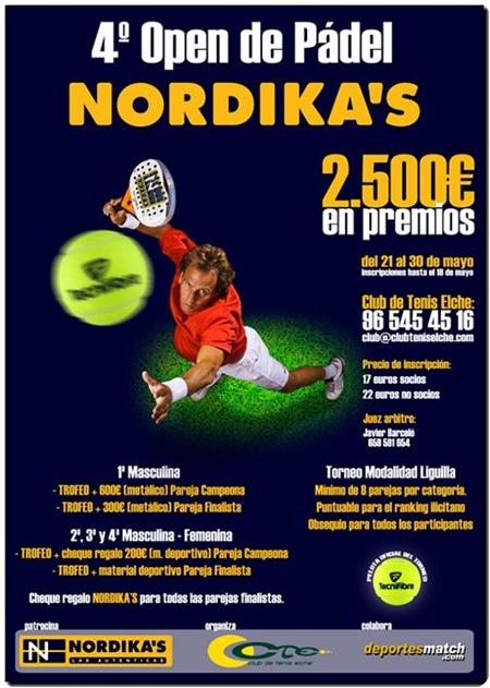 4º Open Padel NORDIKAS Club Tenis Elche 2010