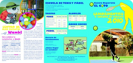 Campamento Verano 2010 Centro Deportivo EL COTO Pagina 1