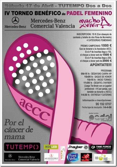 Torneo Benefico Club Tu tempo dos a dos Cancer de mama