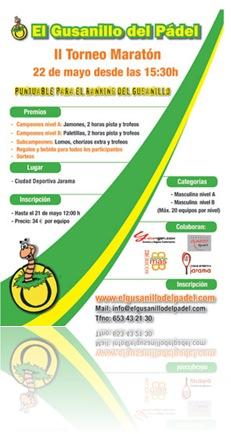 II Torneo Maraton Gusanillo del Padel, mayo 2010
