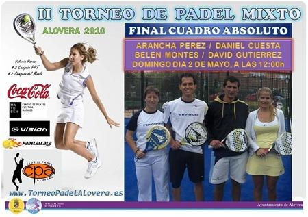 II Torneo de Padel Mixto ALOVERA 2O1O La Final