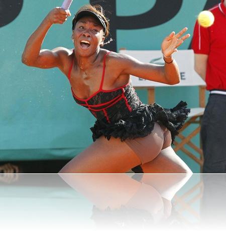 Venus Williams Modelo Roland Garros salto tenis