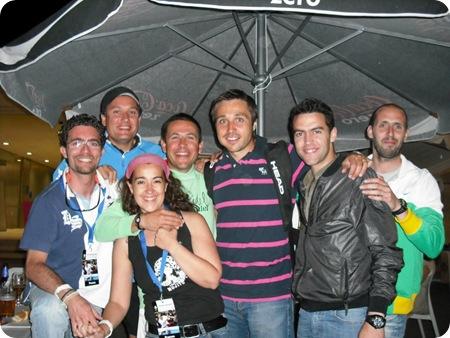 Amigos PlanetaPadel, Fernando belasteguin, Pablo, Miguel, Ángel, Edu, Sonia