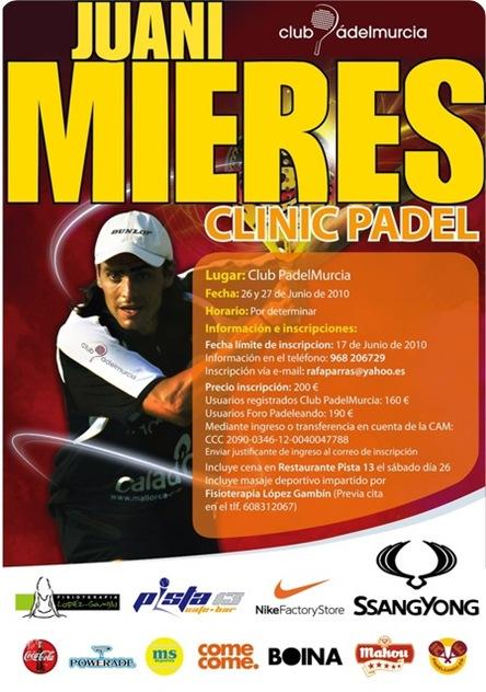 Clinic Juani Mieres en Club Padel Murcia Junio de 2010