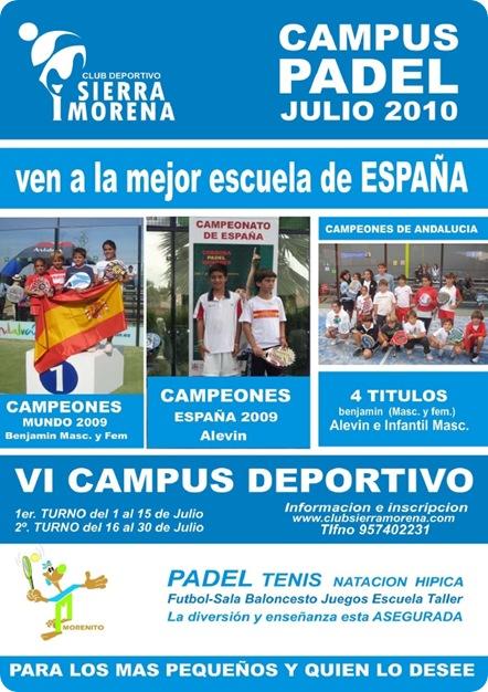 Campus Padel Julio 2010 Club Sierra Morena