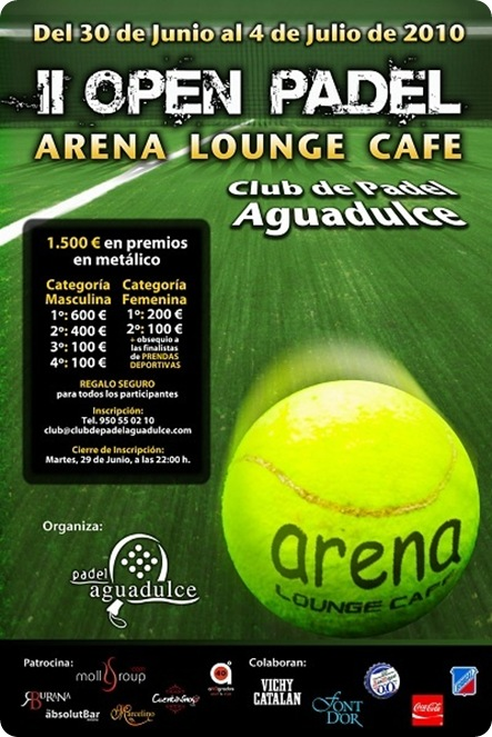 II Open de Padel ARENA LOUNGE CAFE 2010