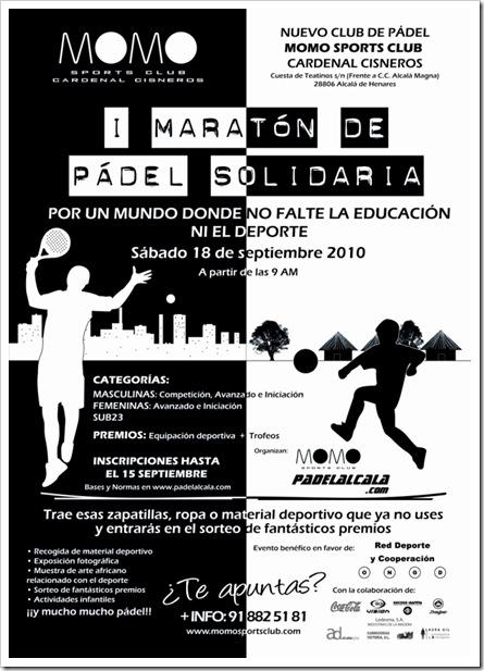 I Maraton de Padel Solidario Momo Sports Club Cardenal Cisneros 2010