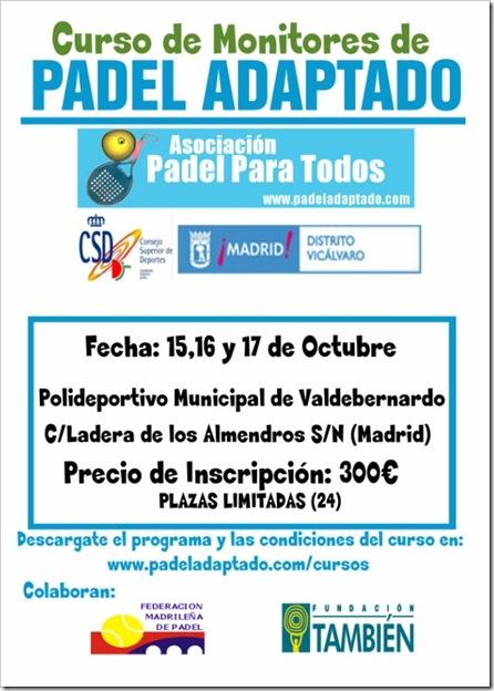 Curso Monitores Padel Adaptado, Padel Para Todos, Madrid Octubre 2010
