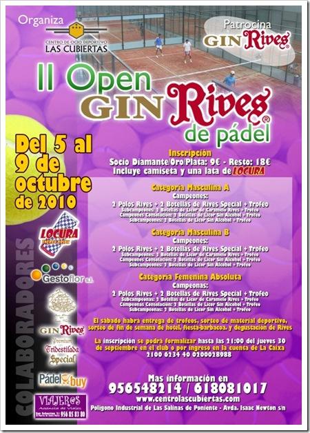 II Open Rives Padel en el Centro Ocio Las Cubiertas