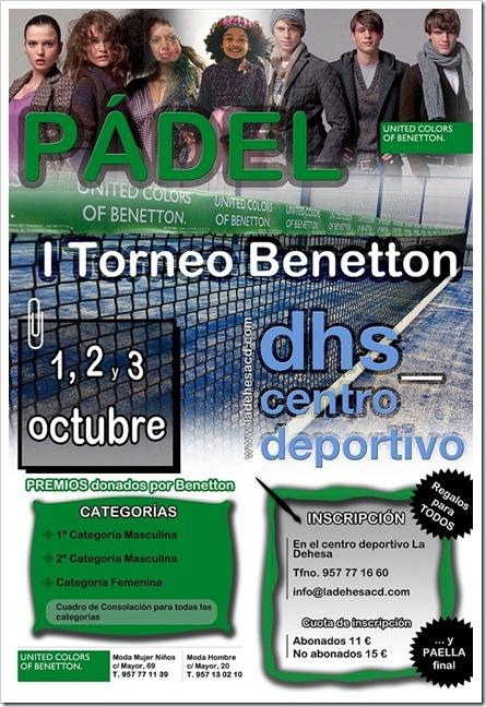 I Torneo de Padel Benetton en la Dehesa Centro Deportivo Cordoba