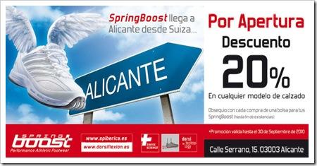 SpringBoost nueva tienda ALICANTE promocion 2010
