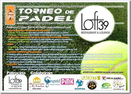 Torneo de Pádel Loft 39 PAIDESPORT Barrio Art Decó Madrid