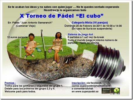 Cartel Cubo X Mixto Torneo febrero 2011